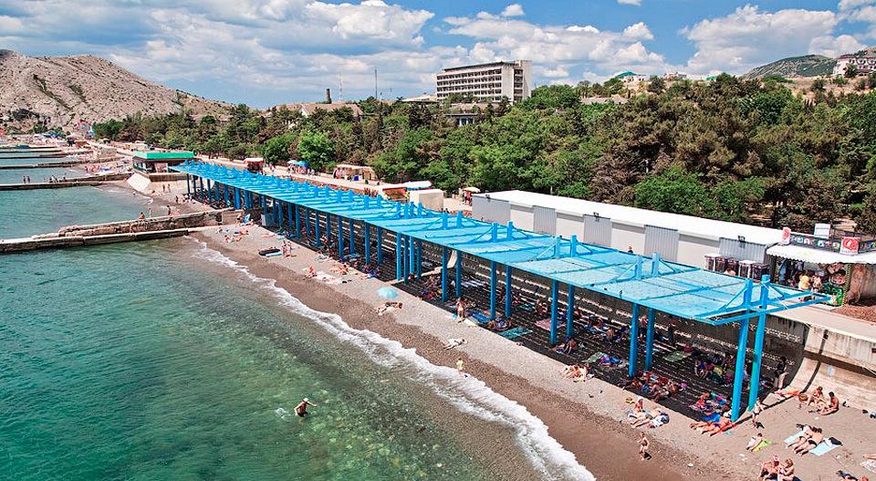 Судак пляж фото санатории