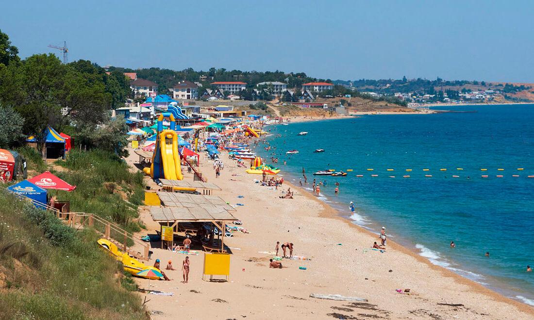 Севастополь - пляжи в Учкуевке — Карта Крыма